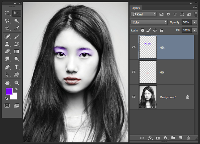 Make up trong Adobe Photoshop